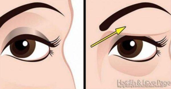 Πώς να διορθώσετε τα πεσμένα βλέφαρα φυσικά. Τα αποτελέσματα είναι εκπληκτικά!!!-ΒΙΝΤΕΟ