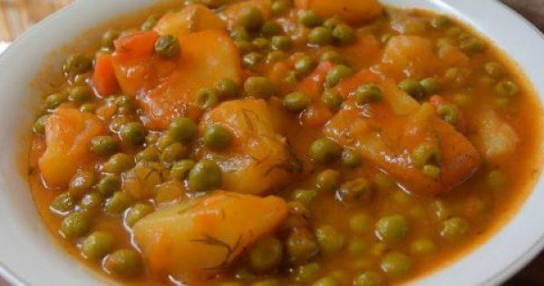 Αρακάς με πατάτες -καρότο !!!