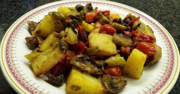 Λαχανικά στον φούρνο με μανιτάρια κ.τ.λ !!!