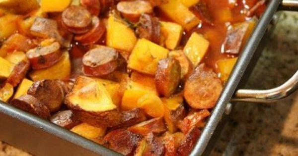 Πατάτες με λουκάνικα στον φούρνο !!!