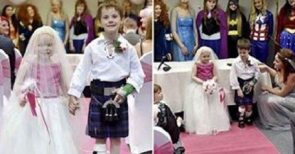 5χρονη ετοιμοθάνατη σε τελικό στάδιο καρκίνου παντρεύεται τον καλύτερό της φίλο