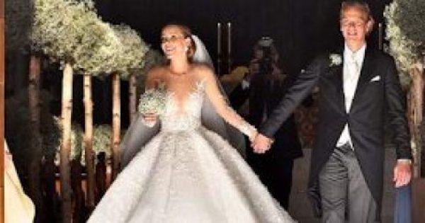 Αυτός ήταν ο γάμος της χρονιάς, παντρεύτηκε η κόρη του Swarovski – Το νυφικό των 46 κιλών με τους 500.000 κρυστάλλους