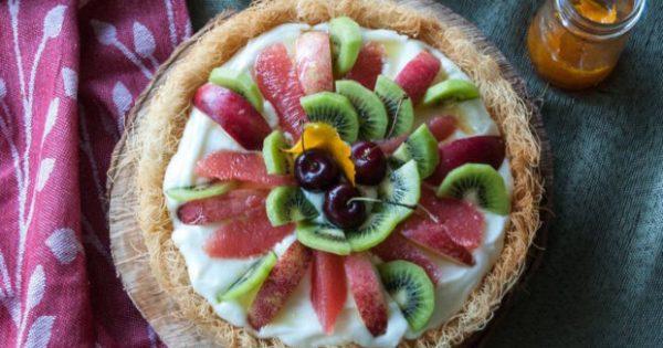 Φτιάξτε Πεντανόστιμη Φωλιά Κανταϊφιού με Κρέμα Πορτοκάλι και Φρέσκα Φρούτα