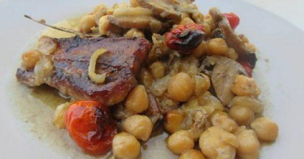 Ρεβύθια στον φούρνο με μανιτάρια & πανσέτα !!!
