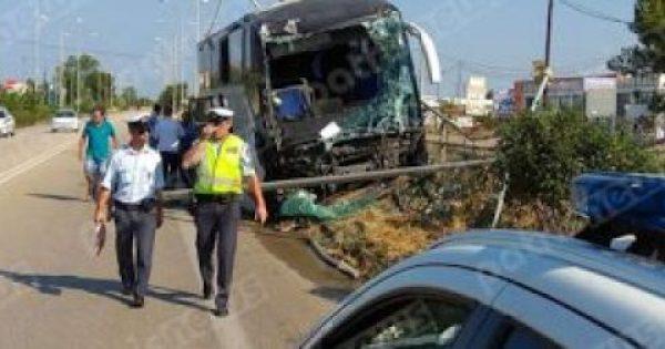 Ηλεία: Τροχαίο με λεωφορείο και καραμπόλα!