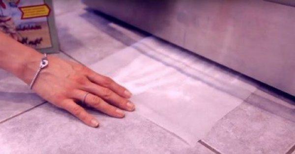 Έριξε Αυτή Τη Σκόνη Σε Μια Λαδόκολλα Και Την Έβαλε Κάτω Από Το Ψυγείο. Ο Λόγος; Θα Σας Λύσει Τα Χέρια! (ΒΙΝΤΕΟ)