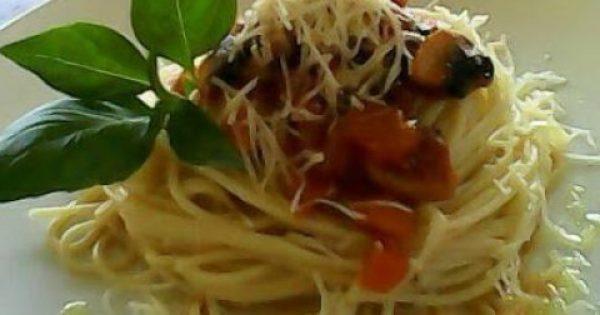 Μακαρονάδα με μανιτάρια & σάλτσα των λαχανικών!!!