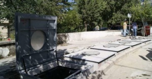 Τοποθετήθηκαν οι πρώτοι υπόγειοι κάδοι σκουπιδιών στην Κοζάνη