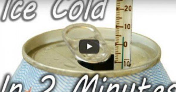 Πως να παγώσετε ένα αναψυκτικό μέσα σε 2 λεπτά! [video]
