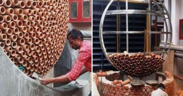 Ινδός σχεδίασε κλιματιστικό που δουλεύει χωρίς ρεύμα και θα σώσει ζωές [Εικόνες]