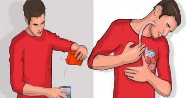 Ρίξε λίγη Μαγειρική Σόδα μέσα σε ένα Ποτήρι Νερό και Πιες το. Αν Ρευτείς μέσα στα επόμενα 5 Λεπτά ΑΥΤΟ σημαίνει ότι…