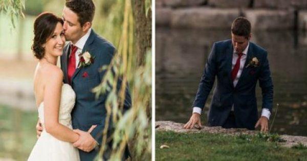 Γαμπρός παρατάει τη Γαμήλια Φωτογράφιση και βουτάει στη Λίμνη. Μόλις η Νύφη καταλαβαίνει τον λόγο, νιώθει Τεράστια Περηφάνια!