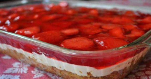 Το φραουλένιο γλυκάκι της γιαγιάς! Είναι πολύ δροσερό, πολύ γρήγορο, οικονομικό και μπορείς να φας αρκετό χωρίς πολλές ενοχές!!!
