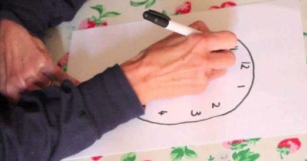Αλτσχάιμερ, άνοια και γνωστική εξασθένηση: Το τεστ με το ζωγραφισμένο ρολόι – Πώς να το κάνετε