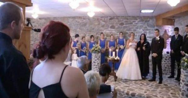 Την ώρα του μυστηρίου η νύφη βλέπει την πρώην του άντρα της. Αυτό που ακολούθησε, δεν περιγράφεται… [Βίντεο]