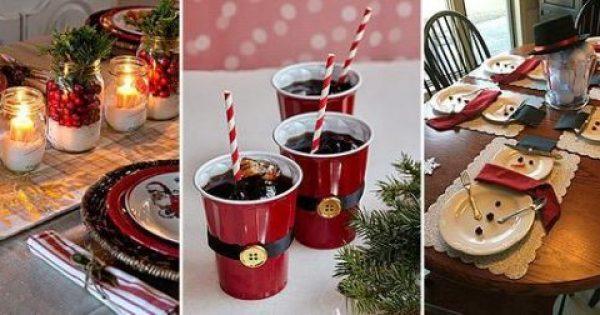 Πώς να διακοσμήσω όμορφα το χριστουγεννιάτικο τραπέζι