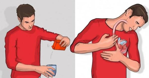 Ρίξε λίγη μαγειρική σόδα σε νερό και πιες το – Αν ρευτείς μέσα σε 5 λεπτά σημαίνει ότι…