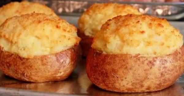 Θα σας ανοίξει την όρεξη: Καταπληκτική συνταγή για τις πιο ωραίες γεμιστές πατάτες που φάγατε ποτέ!