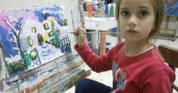 5χρονη πρώτη στην Ελλάδα σε διαγωνισμό ζωγραφικής για τα Χριστούγεννα