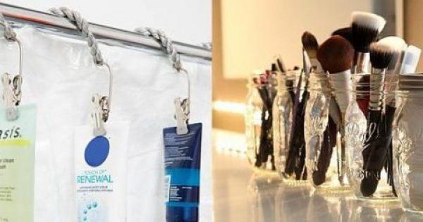 Πώς να οργανώσετε έξυπνα το μπάνιο