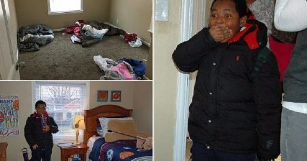 Αγόρι 8 ετών που έζησε χρόνια ως άστεγο, ξεσπάει σε δάκρυα όταν αντικρίζει το πρώτο του κρεβάτι