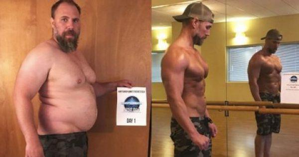 Πατέρας με μπυροκοιλιά έχασε 38 κιλά και έγινε φέτες για το καλό των παιδιών του