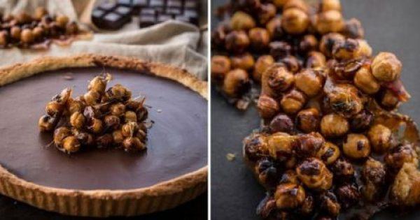 Νηστίσιμη τάρτα σοκολάτας με ταχίνι