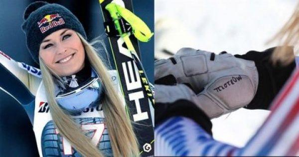 Η «βασίλισσα του σκι» Λίντσεϊ Βον έγραψε στα ελληνικά μήνυμα στη στολή της