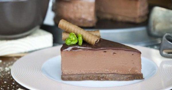 Το πιο κολασμένο τσιζκέικ πραλίνας σοκολάτας