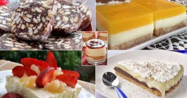 5 συνταγές για εύκολα και γρήγορα γλυκά ψυγείου