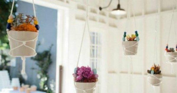 Εύκολο DIY: Φτιάξτε Υπέροχα Κρεμαστά Γλαστράκια