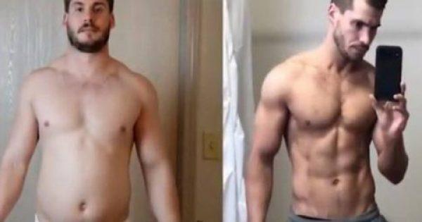 Mε ένα εκπληκτικό βίντεο ένας άνδρας δείχνει πώς μεταμόρφωσε το σώμα του σε 12 βδομάδες [Εικόνες-Βίντεο]