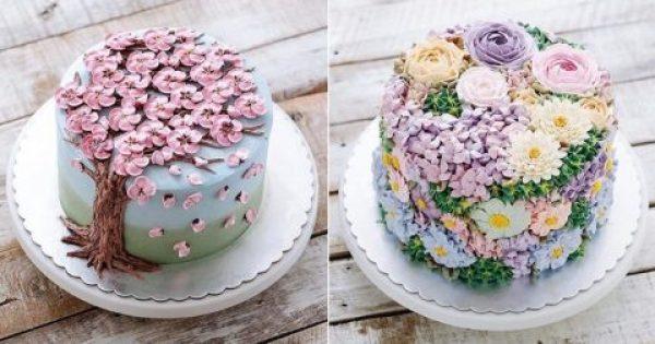 40 πανέμορφες λουλουδένιες τούρτες που γιορτάζουν την άνοιξη