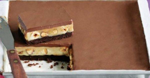 Εύκολο γλυκό ψυγείου με καραμέλα και σοκολάτα!