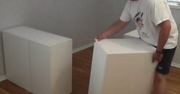Αγόρασε μερικά ντουλάπια από το ΙΚΕΑ και έφτιαξε με αυτά κάτι απίθανο!