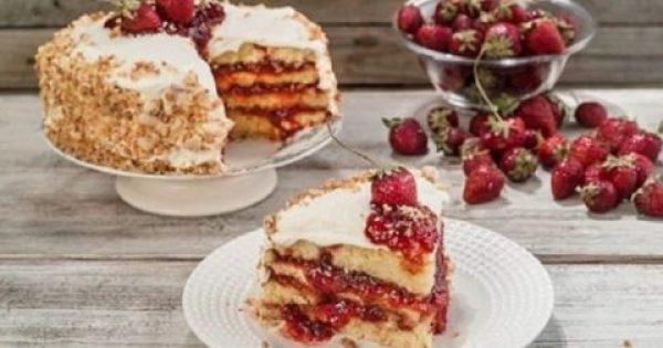 Λαχταριστή τούρτα με αγριοφράουλα!