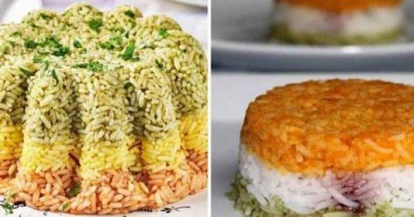 Πώς Να Φτιάξετε Τρίχρωμο Ρύζι Σε Φόρμα!
