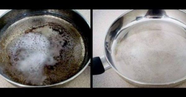 Σας κάηκε το φαγητό και μαύρισε το τηγάνι; Αν έχετε ζάχαρη μην ανησυχείτε!