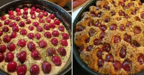Φανταστικό κέικ με κεράσια!