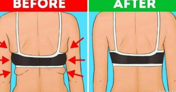 10 ασκήσεις για να απαλλαγείτε από το λίπος στην πλάτη και τα χέρια μέσα σε 20 λεπτά