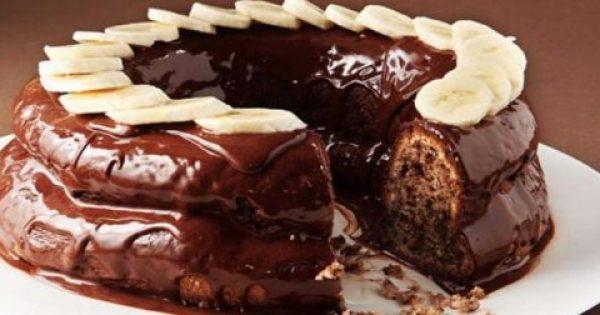 Συνταγή για αφράτο, ζουμερό, σοκολατένιο κέικ με μπανάνα