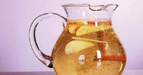 Υγιεινό Αδυνάτισμα με Νερό, Κανέλα, Μήλο και Λεμόνι