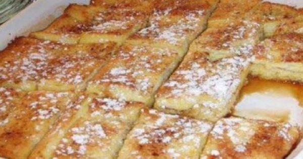 Υπέροχο πρωινό με ψωμί του τοστ στο φούρνο που θα γλείφετε τα δάχτυλά σας