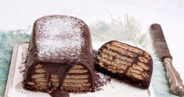 Ένα καταπληκτικό γλυκό ψυγείου με μπισκότο έτοιμο σε 3 λεπτά