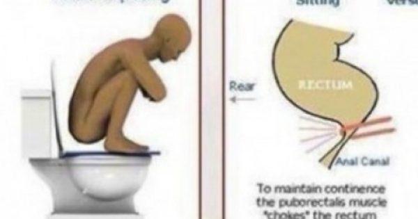 Ποιος είναι ο σωστός τρόπος να πηγαίνουμε στην τουαλέτα