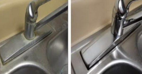 Πώς να καθαρίσετε τα άλατα στο νεροχύτη με ένα μόνο υλικό [video]