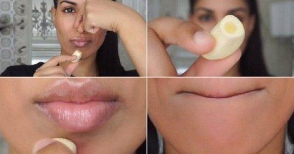 Γκουρού Ομορφιάς Τρίβει Ωμό Σκόρδο κάτω από τα Χείλη της. Το αποτέλεσμα; Καταπληκτικό!