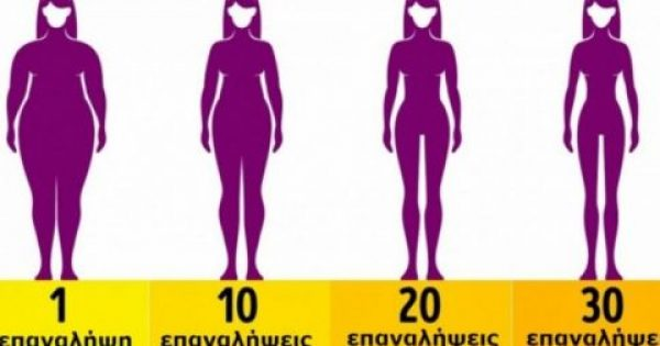 Χάστε το μισό σας βάρος και αποκτήστε κορμί-λαμπάδα με μόλις 4 λεπτά άσκησης τη μέρα. Θα μείνετε άφωνες με τα αποτελέσματα