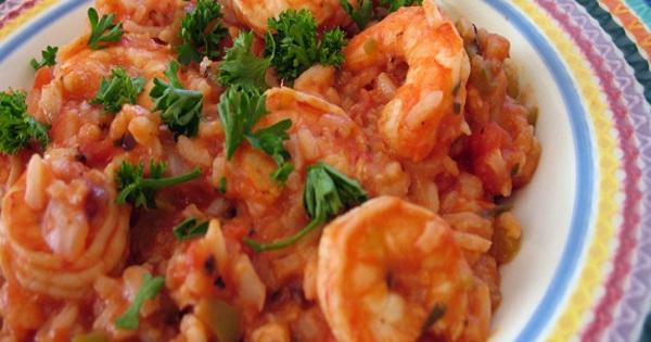 Γαρίδες με ρύζι διαίτης σε 30 λ