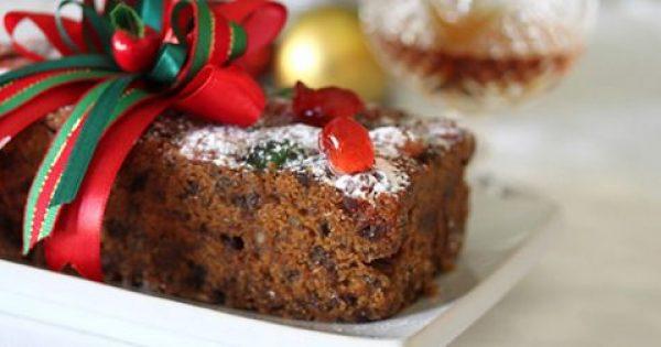 Κέικ Χριστουγεννιάτικο με αποξηραμένα φρούτα και ξηρούς καρπούς